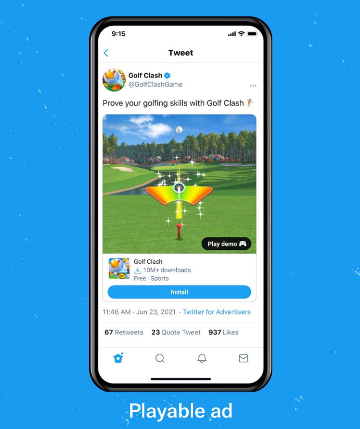Twitter advertising - playable ad | Crimson Park Digital